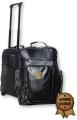 PATCH LEATHER WHEELED TRAVEL BAG - Embroidered