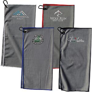 SUEDE GOLF TOWEL - Embroidered